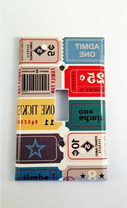 Vintage Ticket Stub Light Switch Cover