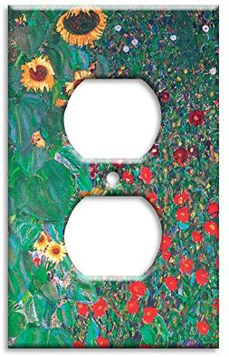 Outlet Cover Wall Plate - Klimt: Sunflowers