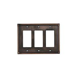 Wall Light Switch Plate Rocker Cover Tradition Brushed Oil-R