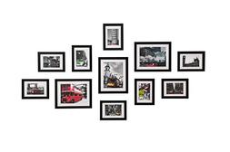 WOOD MEETS COLOR Wall Picture Frames Set of 11, With Hanging