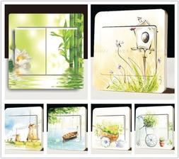 Wall Stickers Switch Cover Light Switch Decor Art Mural Nurs
