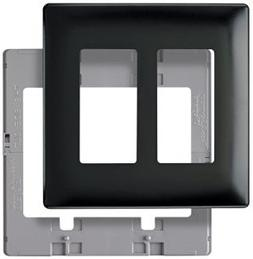 WALLPLATE 2G DECORA BLK