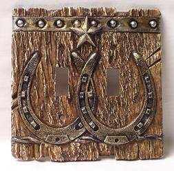 Western  Double Light Switch Plate/Cover Rustic Home & Cabin