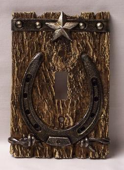 Western  Single Light Switch Plate/Cover Rustic Home & Cabin