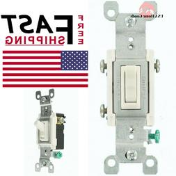 White 15 Amp 3-Way Co/Alr Ac Quiet Toggle Switch Leviton R62