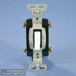Pass & Seymour White COMMERCIAL 4-WAY Toggle Light Switch 15