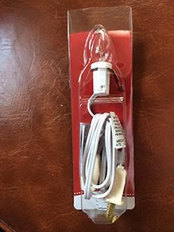 WHITE REPLACEMENT LIGHT CORD 4 FT WITH SWITCH
