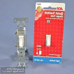 New Ace White Single Pole Quiet Toggle Wall Light Switch Con