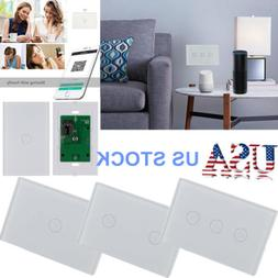 Wi-Fi Touch Smart Wall Light Switch Phone Remote Control for