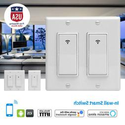 WIFI In-Wall Light Switch Smart Cellphone Voice Control Time