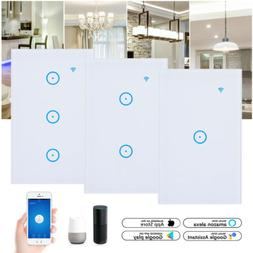 WIFI Smart Home Wall Light Switch Working With Alexa Google
