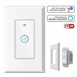 WIFI Smart Light Switch In-Wall, Wireless lighting On/Off No