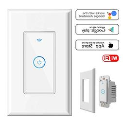 Smart Light Switch,Wi-Fi Switch In-wall Wireless Switch Comp