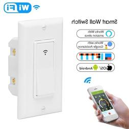 WiFi Smart Light Switch Wireless Remote Control In-Wall Time
