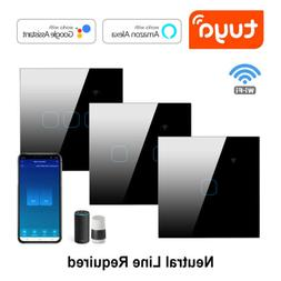WIFI Smart Light Touch Switch Wall Lamp Glass Panel For Alex
