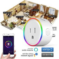 Wifi Smart Plug Outlet w/Night Light Works Alexa Time Switch