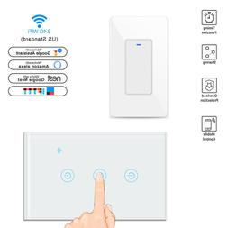 WIFI Smart Wall Light Touch Panel Switch Socket Remote For A