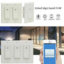 WIFI Smart Wall Light Touch Switch App Timer 1 2 3 Gang Alex