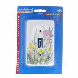 Leviton Wildflower Porcelain Light Switch Cover Toggle Wall