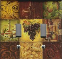 WINE GRAPES MOSAIC TUSCAN KITCHEN HOME DECOR LIGHT SWITCH PL