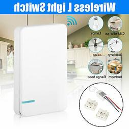 Wireless Light Switch w/ Receiver for LED Lamp ON/OFF RF Rem
