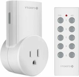 Etekcity Upgraded Remote Control Outlet Wireless Light Switc