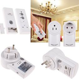 Wireless Remote Control Outlet Electrical Power Light Plug S