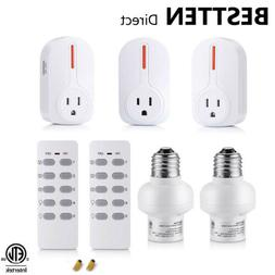BESTTEN Remote Outlet and Light Socket Combo Set , Wireless