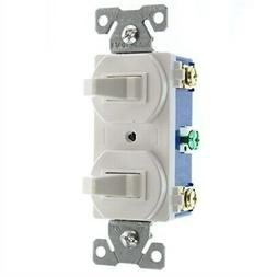 EATON 275W-BOX Wiring Combination Devices, Duplex Toggle, Gr