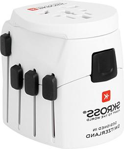 Skross PRO World Travel Adapter With Ground Plugs