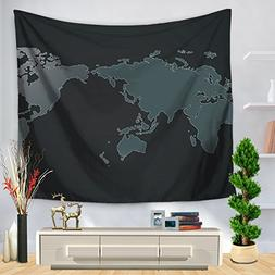World Map Tapestry Art Printed Wall Hanging Beach Throw , E
