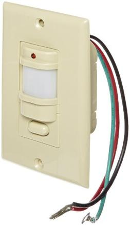Hubbell WS277I Passive Infrared Wall Switch, 1 Button, Ivory
