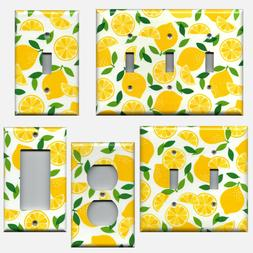 Yellow Lemon Slices Light Switch Plates and Wall Outlet Cove