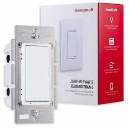 Honeywell Z-Wave Plus Smart Light Dimmer Switch, In-Wall Pad