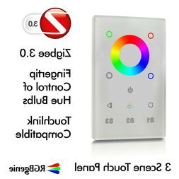 ZigBee Switch and Color Touch Panel In-Wall Remote Dimmer an