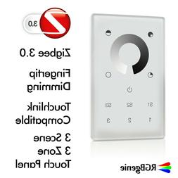 ZigBee Touch Panel Single Color In-Wall Remote Dimmer and Re
